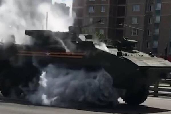 Названа причина возгорания «Бумеранга» после парада Победы