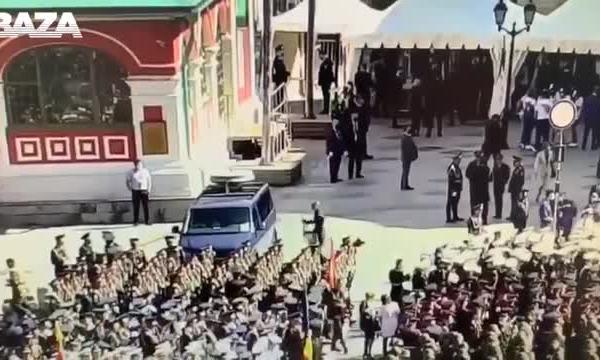 Опубликовано видео с разбившим машину ФСО на параде Победы солдатом