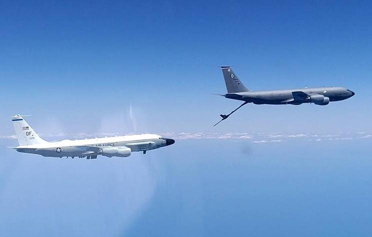 Минобороны опубликовало видео перехвата самолетов США над Черным морем