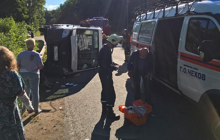 В Подмосковье девять человек пострадали в ДТП с маршруткой