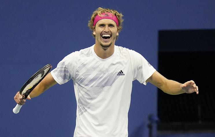 Немец Зверев стал первым финалистом US Open