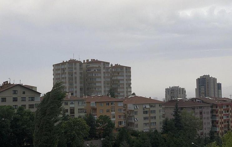 Ураган обрушился на провинцию Анкара в Турции
