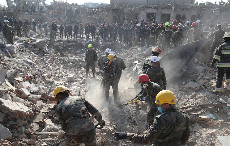 В Азербайджане сообщили о 13 погибших в результате ракетного удара по Гяндже