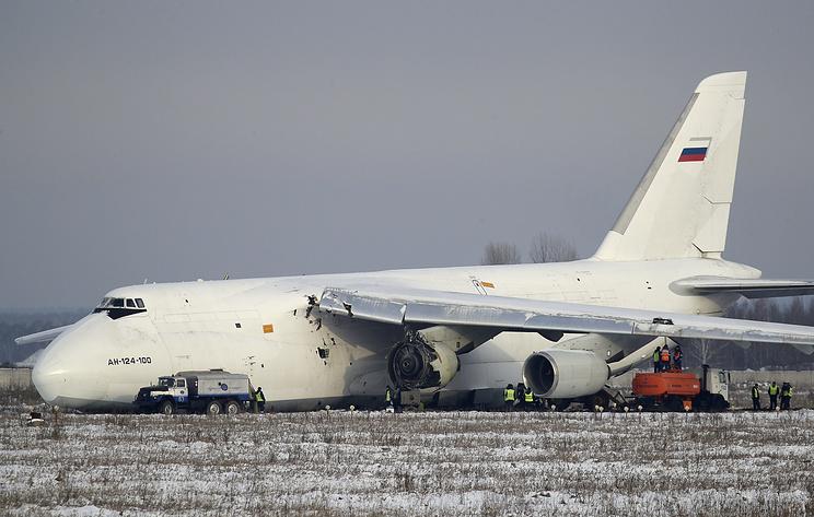 Выкатившийся за пределы ВВП в Новосибирске Ан-124 совершал посадку без электронных систем