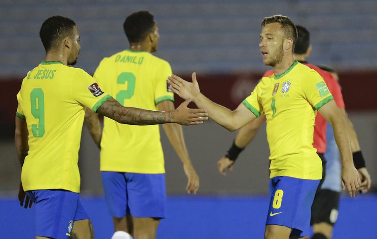 Сборная Бразилии обыграла уругвайцев в матче отбора на ЧМ-2022