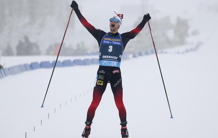 Норвежские биатлонисты заняли весь пьедестал в гонке преследования на этапе КМ в Оберхофе