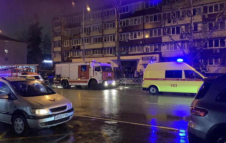 Пожар произошел в многоквартирном доме в Сочи