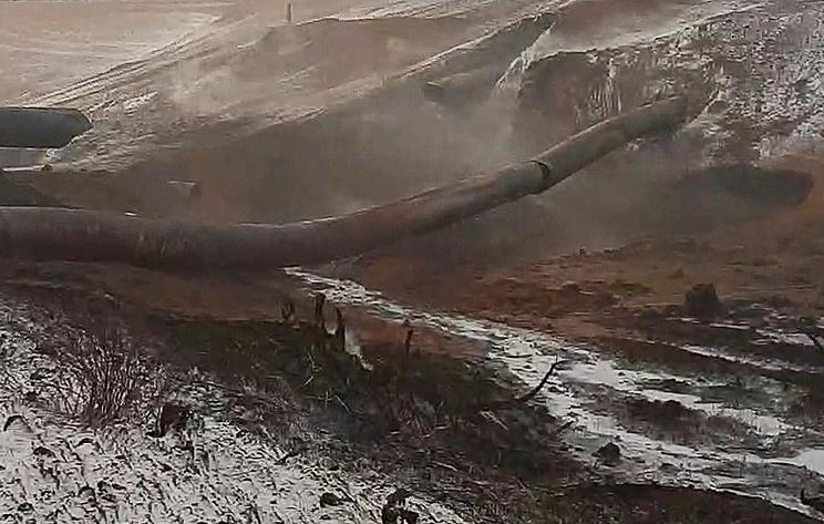 """""""Газпром"""" начал восстановительные работы на газопроводе в Оренбургской области"""