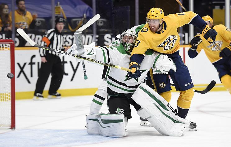 """""""Даллас"""" обыграл """"Нэшвилл"""" в матче НХЛ. Гурьянов и Тренин набрали по одному очку"""