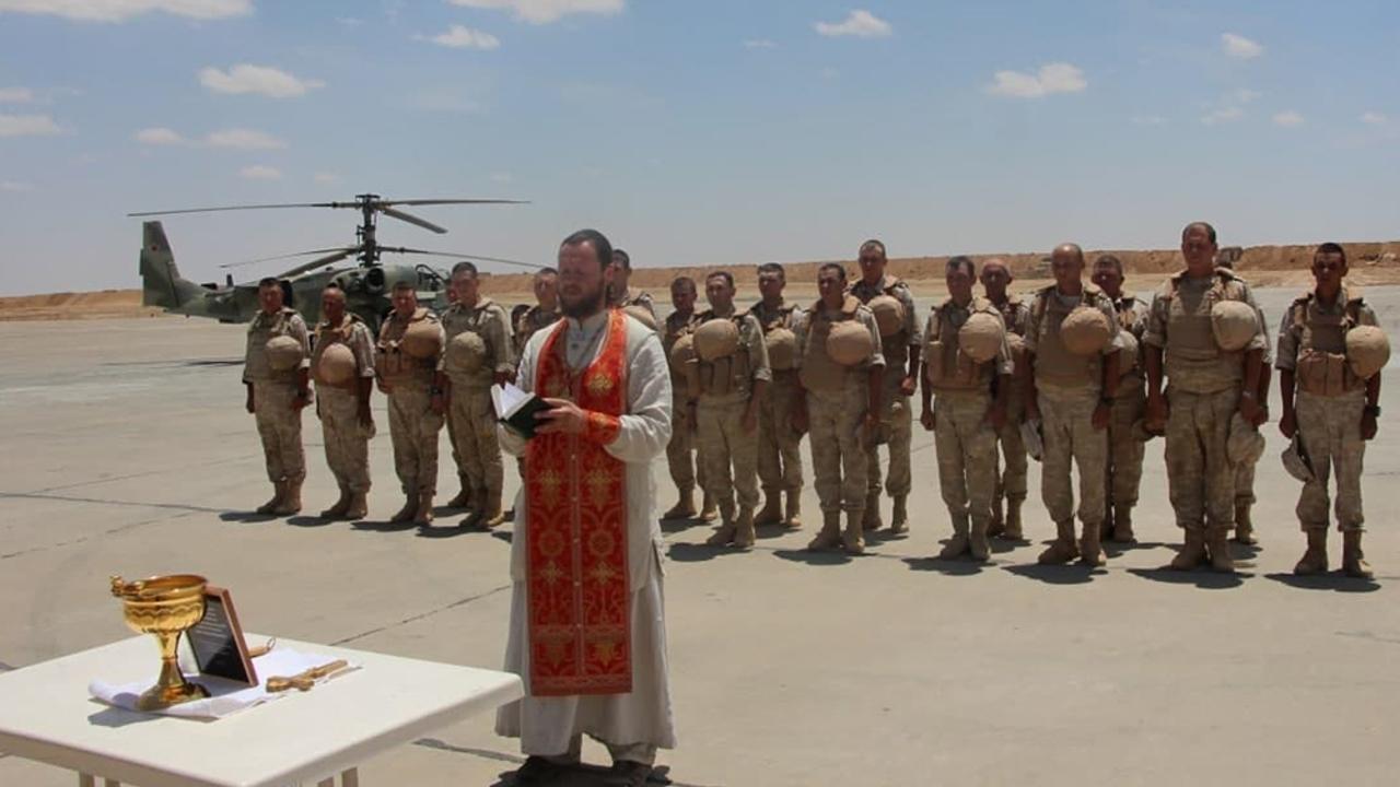 Российские военные впервые помолились на бывшей базе армии США